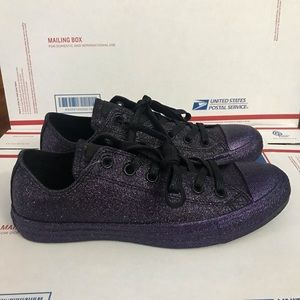 NEW Converse Chuck Taylor Purple Glitter Sneakers